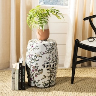 Link to Safavieh Paradise Sanctuary Off-White Ceramic Decorative Garden Stool Similar Items in Outdoor Decor