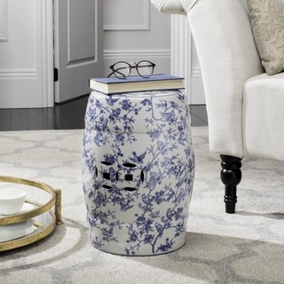Safavieh Paradise Swallows White Ceramic Decorative Garden Stool