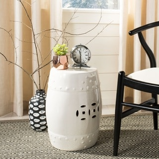 Safavieh Paradise Treasures Ivory Cream Ceramic Garden Stool