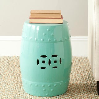 Safavieh Paradise Treasures Light Blue Ceramic Garden Stool