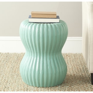 Safavieh Paradise Oval Light Blue Ceramic Garden Stool