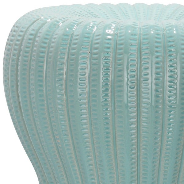 Safavieh Paradise Oval Light Blue Ceramic Garden Stool   Free Shipping  Today   Overstock.com   15132311