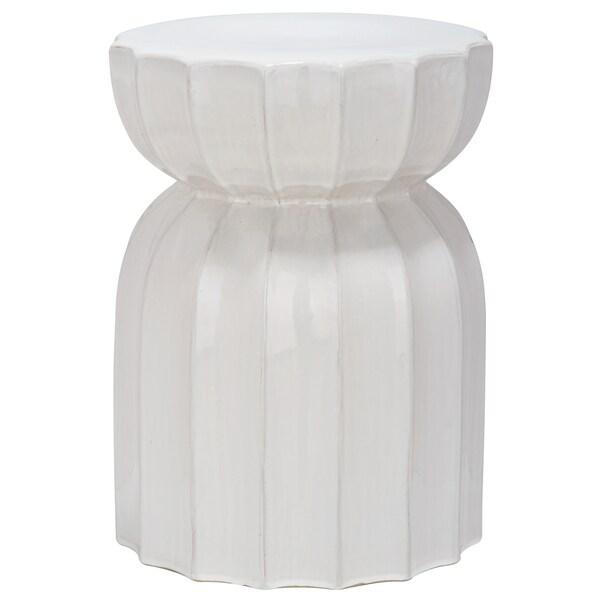 Safavieh Paradise Tranquil White Ceramic Garden Stool