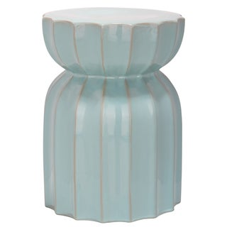 Safavieh Paradise Tranquil Light Blue Ceramic Garden Stool