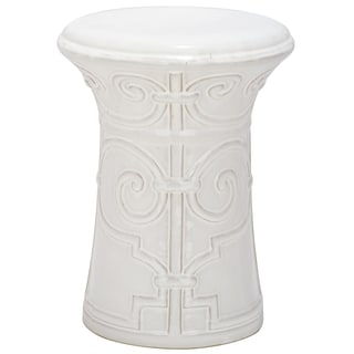 Safavieh Paradise Zoe White Ceramic Garden Stool
