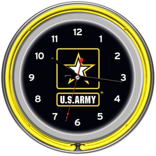 Link to U.S. Army Chrome Double Ring Neon Clock Similar Items in Billiards & Pool