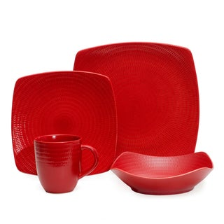 Shop Red Vanilla Red Rice 16 Piece Dinnerware Set Free
