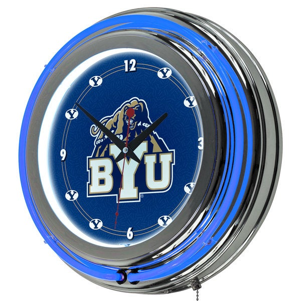 Byu 14 Inch Neon Clock Free Shipping Today Overstock