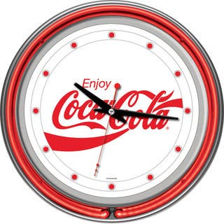 Enjoy Coke White Neon Clock|https://ak1.ostkcdn.com/images/products/7731379/7731379/Enjoy-Coke-White-Neon-Clock-P15132465.jpg?impolicy=medium