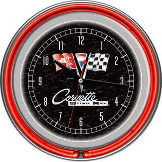 Corvette C2 Black Chrome Double Ring Neon Clock|https://ak1.ostkcdn.com/images/products/7731380/P15132466.jpg?impolicy=medium