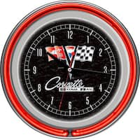 Corvette C5 Red Neon Clock Free Shipping Today