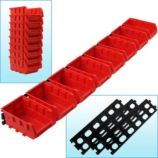 Stalwart 8-bin Wall Mounted Parts rack