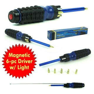 Stalwart 8-in-1 Multipurpose Lighted Magnetic Driver