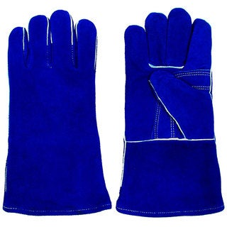 Stalwart Leather Premium Blue Welding Gloves