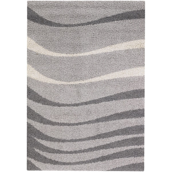 Moonwalk Echoes Grey Rug (7'10 x 10'10)