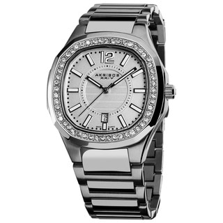 Akribos XXIV Women's Swiss Quartz Stainless Steel Crystal Silver-Tone Bracelet Watch