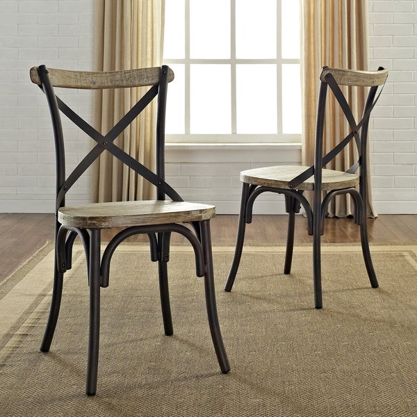 Urban Reclaimed Solid Wood Dining Chairs (Set Of 2)