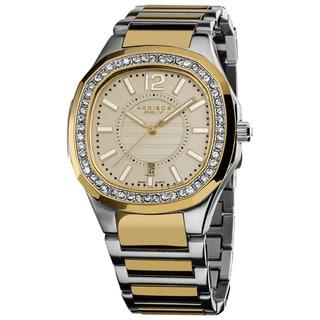 Akribos XXIV Women's SilverTone Quartz Stainless Steel Crystal Bracelet Watch