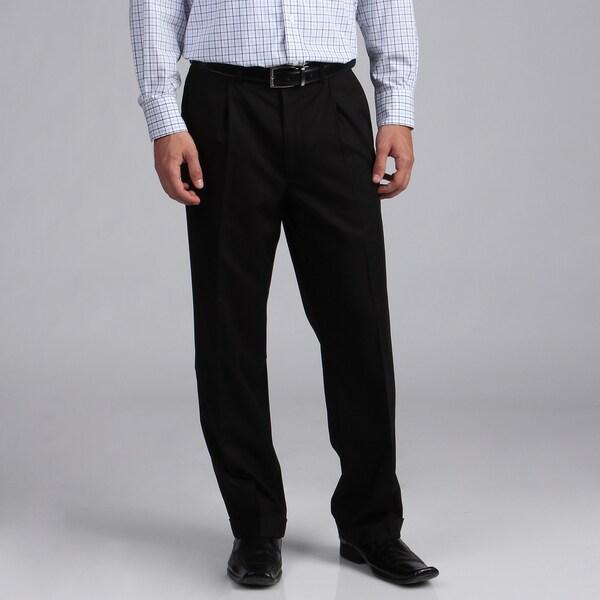 Geoffrey Beene Pleated Black Solid Suit Separate Pants