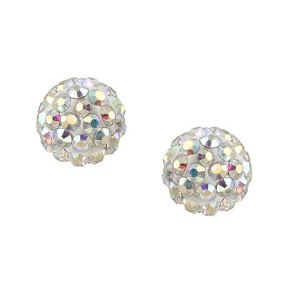 e99c7203d Icz Stonez Sterling Silver Crystal Cluster Fireball Stud Earrings