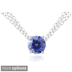 Icz Stonez Silver 6 1/2ct TGW Cubic Zirconia 3-strand Solitaire Necklace