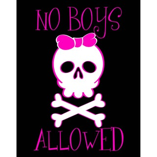 'No Boys Allowed' Art Print