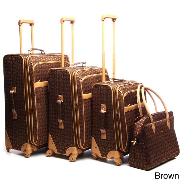 Pierre Cardin Revolution 4-piece Spinner Luggage Set