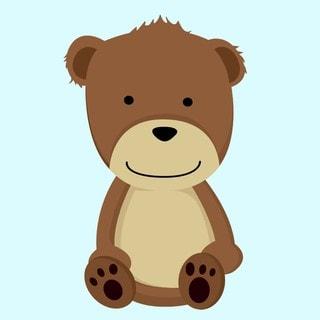 'Single Teddy Bear' Art Print
