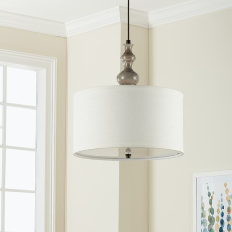 Clay Alder Home Charcoal Turned 3-light Rubbed Pendant
