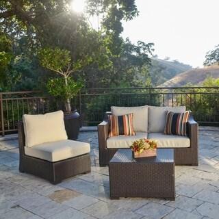 Corvus Matura Outdoor 4-piece Brown Wicker Seating Set
