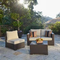 Corvus Matura Outdoor 4-piece Brown Wicker Sofa Set