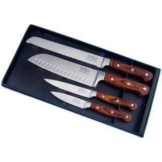 Hen & Rooster Pakka Wood Stainless Steel Knife Set (Set of 4)
