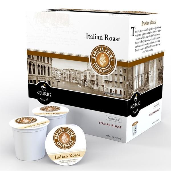Barista Prima Decaf Italian Roast Coffee Cups for Keurig Brewers
