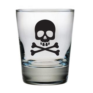Skull and Crossbones Double Old Fashioned Glasses (Set of 4)
