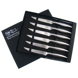 Hen & Rooster Stainless Steel Steak Knife Set (Set of 6)