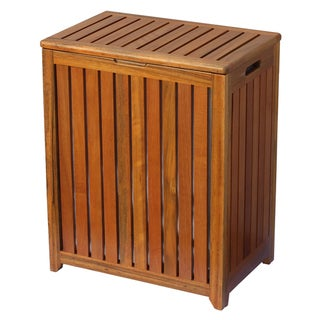 Oceanstar Solid Wood Spa Hamper