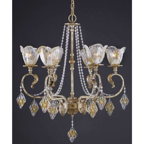 Wilshire Brittany Collection Crème Brule Finish Chandelier