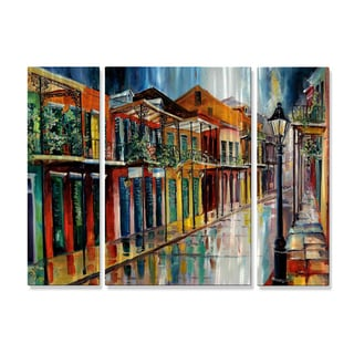 Diane Millsap 'French Quarter Rain AC' Metal Wall Decor