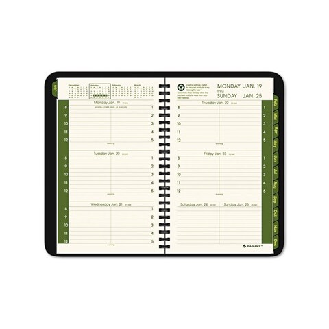 Recycled Black 2015 Weekly/Monthly Appointment Book
