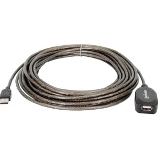 Manhattan Hi-Speed A Male/A Female USB Active Extension Cable, 33'