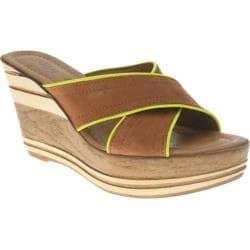 Women's Azura Outburst Brown/Yellow Leather