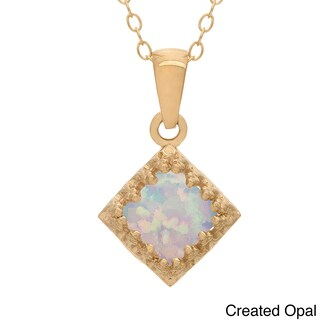 Gioelli Tiara Collection Goldplated Silver 6mm Square Gemstone Crown Necklace (4 options available)