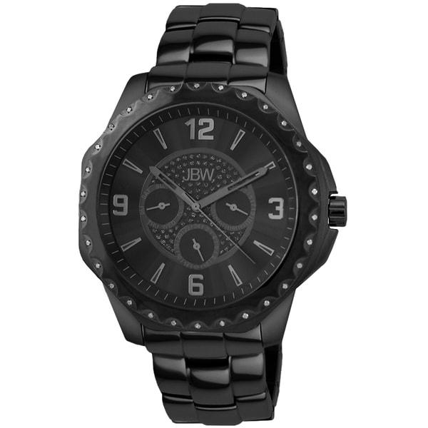 JBW Men's Royale Black Ion-Plated Steel Watch