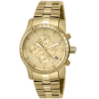 JBW Women's 'Novella' Gold-plated Stainless Steel Water-resistant Chronograph Watch
