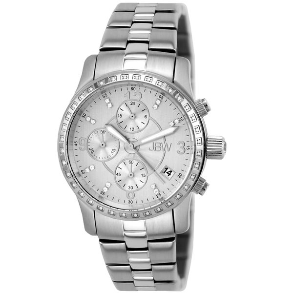 JBW Women's 'Novella' Stainless Steel Chronograph Watch