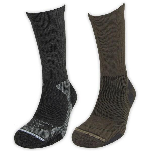 Men's Lightweight Merino Wool Hiker Socks (Pack of 2)