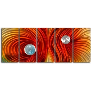 'Eyes of satin twister' 5-piece Handmade Metal Wall Art Set