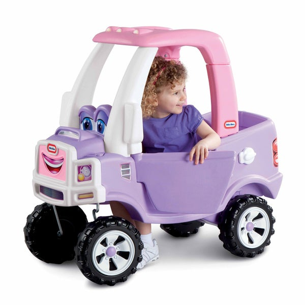 Little Tikes Princess Purple/Pink Plastic and Metal Ride-on Cozy Truck