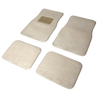 Oxgord Car Floor Mat Beige Carpet 4-piece Front and Rear Set