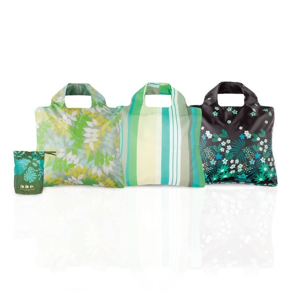 Envirosax Botanica Oasis Reusable Bags with Packing Pouch (Set of 3)